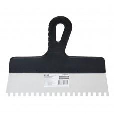 Шпатель зубчастий (нержавіючий) 250мм 8×8 GRAD (8321375)