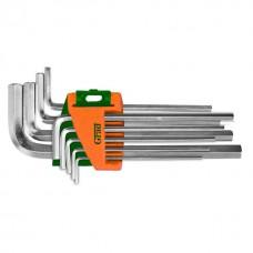 Ключі шестигранні 9шт 1.5-10мм CrV (середні) GRAD (4022085)