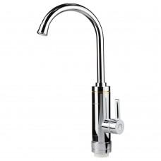 Кран-водонагрівач проточний HZ 3.0кВт 0.4-5бар для кухні гусак вухо на гайці (C) AQUATICA (HZ-6B143C)