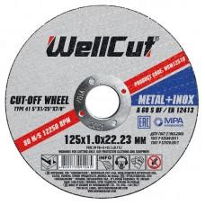 Круг відрізний для металу WELL CUT 125*1,0