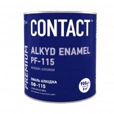 "Емаль алкідна ПФ-115 ""CONTACT"" біла 0,9 кг"