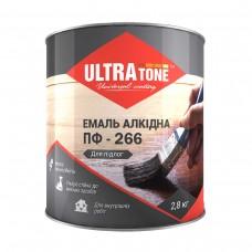 """Емаль алкідна ПФ-266 """"ULTRA Tone"""" жовто-коричнева 0,9 кг"""