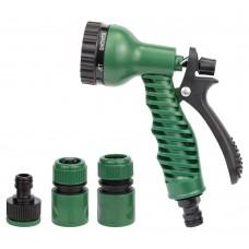 Набір для поливу: пістолет розпилювач 7-ми режимний 2 коннектора+адаптер ABS GRAD (5012525)