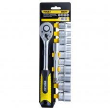 """Ключ-тріскачка 1/2"""" з набором насадок і подовжувачем 12шт CrV mid SIGMA (6003701)"""