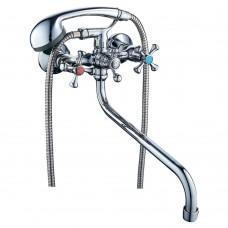 """Змішувач VN 1/2"""" для ванни гусак вигнутий дивертор вбудований кульовий TAU (VN-5C460C)"""