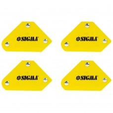 набор держателей магнитных мини 4кг 52×20×40×16×38мм (45,90,135°) 4шт