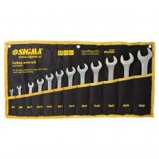 Ключі ріжкові 12шт 6-32мм CrV satine (тк чохол) SIGMA (6010341)