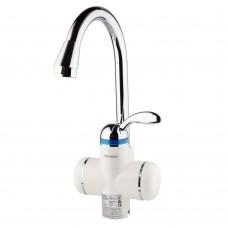 Кран-водонагрівач проточний LZ 3.0кВт 0.4-5бар для кухні гусак вухо на гайці AQUATICA (LZ-6B111W)