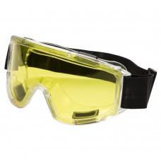 очки защитные закрытые Jet anti-scratch (желтые)