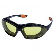 Набір окуляри захисні з обтюратором і змінними дужками Super Zoom anti-scratch, anti-fog (бурштин) SIGMA