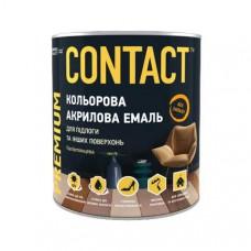"Емаль акрилова ""CONTACT"" універсальна вишнева RAL- 3009 0,75 л"