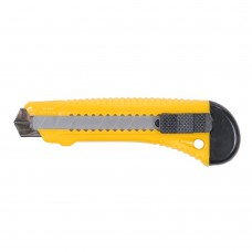 нож пластиковый корпус лезвие 18мм автоматический замок (усиленный)